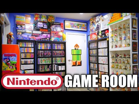 ULTIMATE Nintendo Game Room Tour 2017