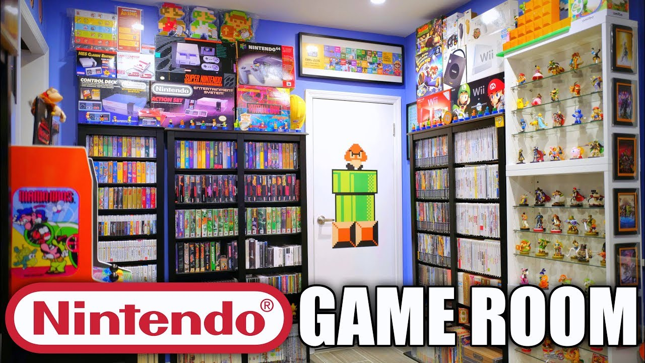 Nintendo Game Room Tour