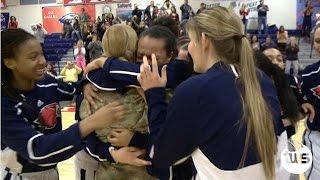 Military Mom Surprises Daughter at Basketball Game