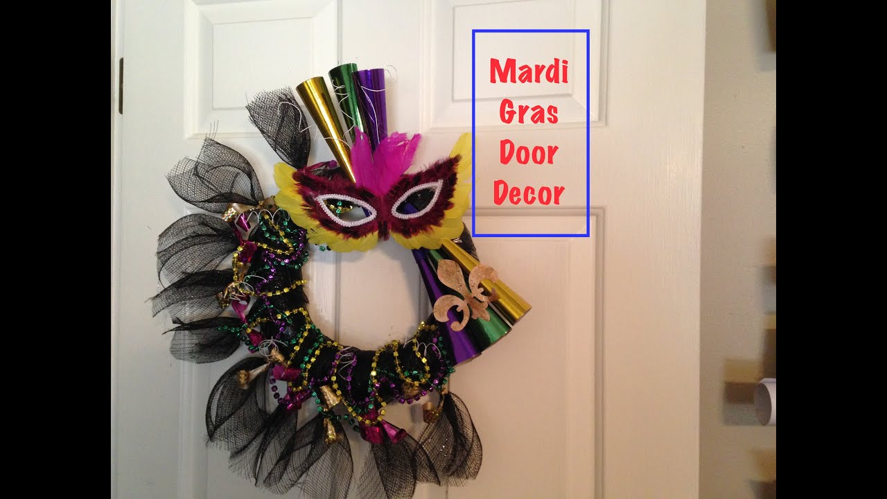 Mardi Gras Door Decoration - YouTube