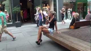 Repeat youtube video HOW TO TEASE A DUSTMAN IN MEGA HIGH HEELS IN PUBLIC
