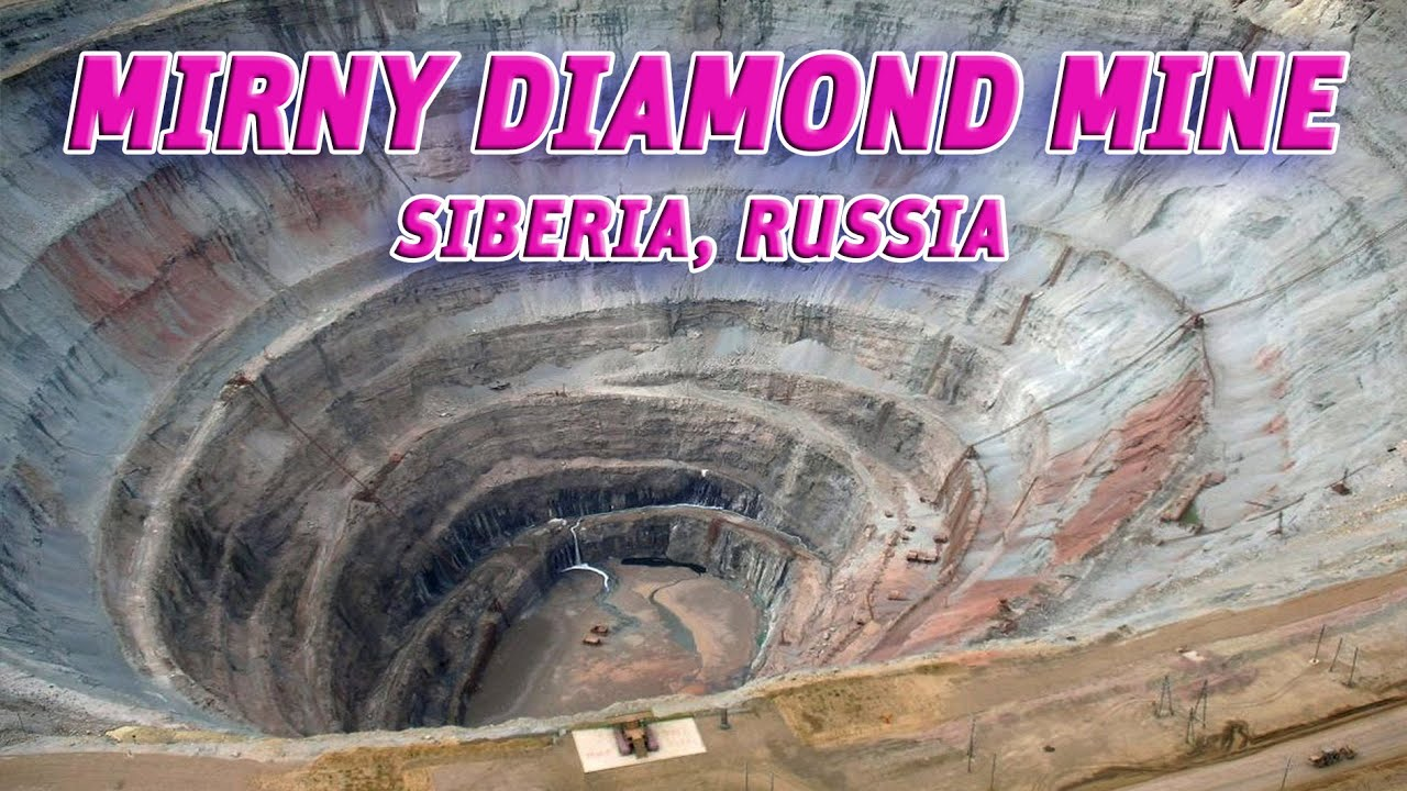 the giant holes mirny diamond mine siberia russia