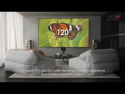 Elite ProAV® - Benefits of Using a Ceiling Ambient Light Rejecting UST Material vs. a Flat Panel TV