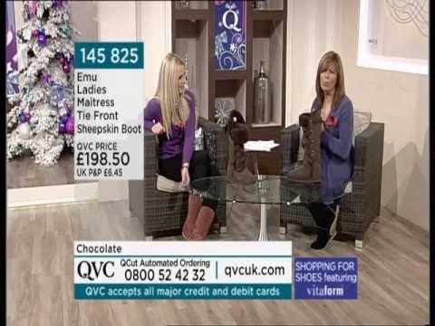 Qvc Debbie Greenwood Emu Boots And Leather Trousers Youtube