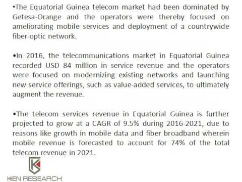 Telecom Sector In Equatorial Guinea To Evolve In The Future: Ken Research
