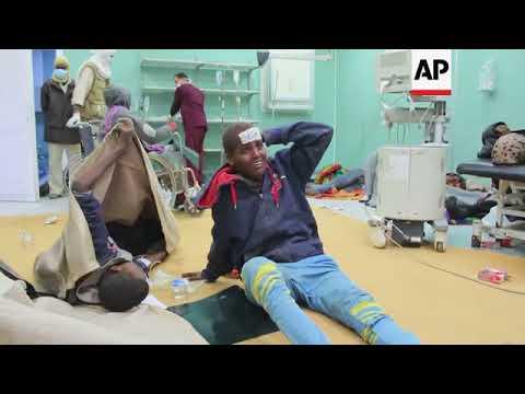 Aftermath, injured, morgue as 19 migrants killed in Libya truck crash