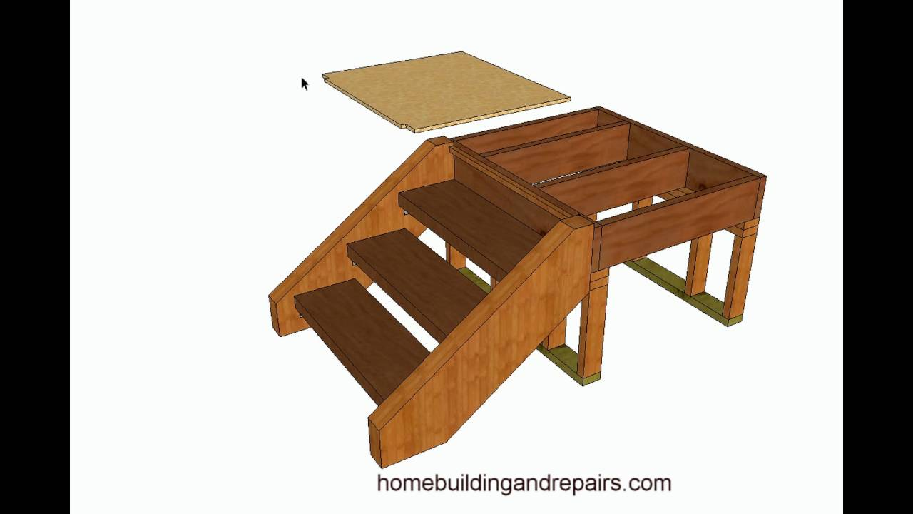 How To Build And Frame Stairs With Brackets Example 1