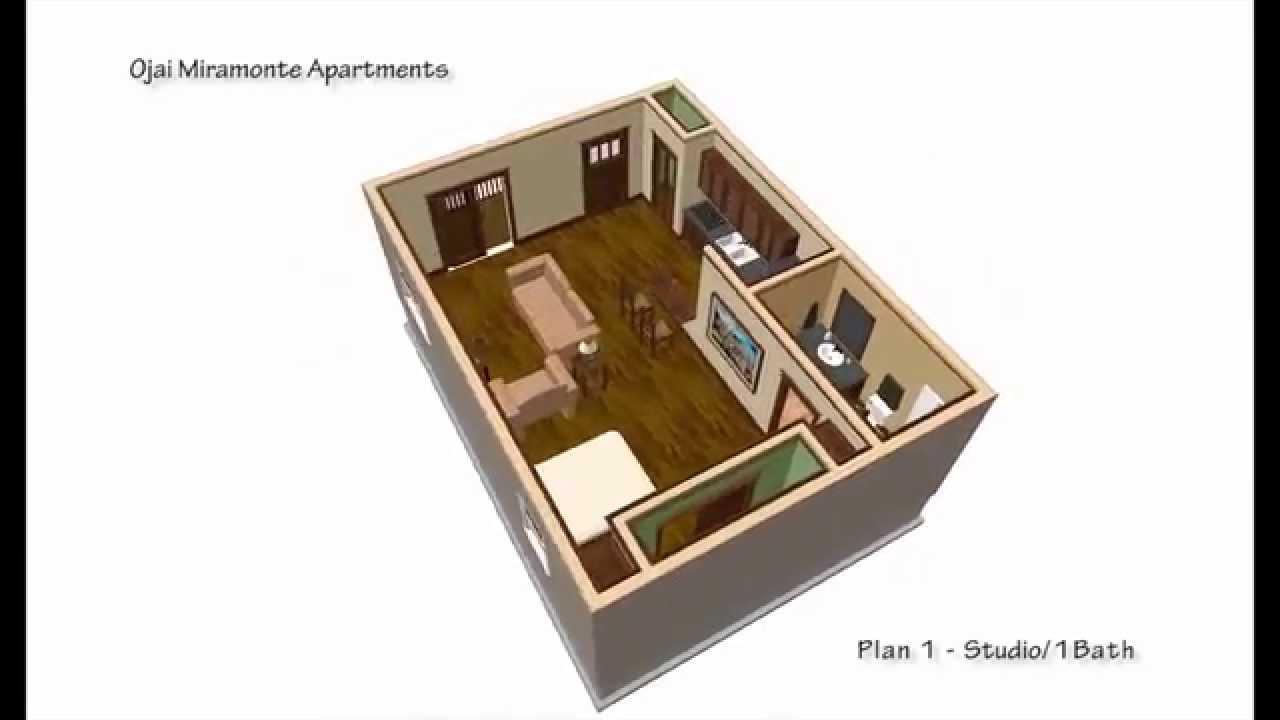 Plana studio 1 bath 500 sqft youtube - What is 500 square feet ...