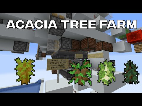 Fast 4 Type Tree Farm (Acacia, Spruce, Birch, Oak)