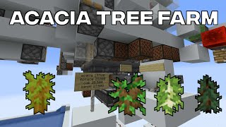Fast 4 Type Tree Farm (Acacia, Spruce, Birch, Oak)