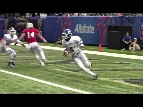 Jesuit's Jakirai Wiley runs down the interception during state championship game