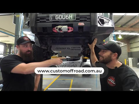 Custom Offroad Pajero Sport Bash Plate Fit Up