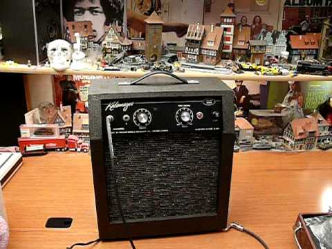 vintage kalamazoo model one guitar tube amp amplifier youtube. Black Bedroom Furniture Sets. Home Design Ideas
