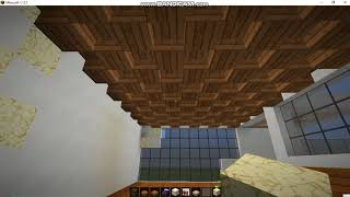 Minecraft Luxurious Quartz and wood house!! Easy: Overview/visit!!
