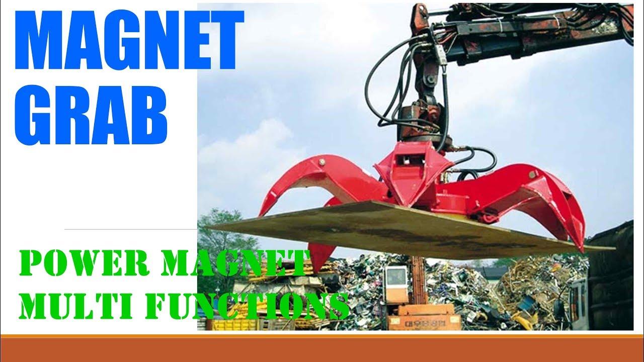 Excavator Scrap Magnet Power Grab WhatsApp/WeChat/Viber/Line +82 10 7478  5119