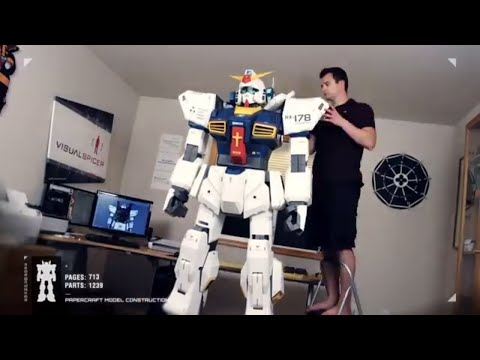 Building the 7FT GUNDAM Ultimate Papercraft