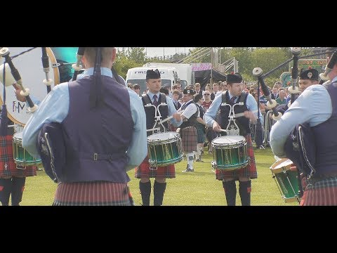 Field Marshal Montgomery Pipe Band at the 2018 British Championships in Paisley
