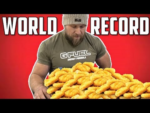 Most Chicken Nuggets Eaten in 3 Minutes (NEW World Record) | McDonald's Challenge