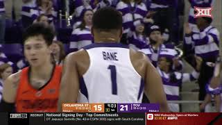 Oklahoma State vs TCU Men's Basketball Highlights