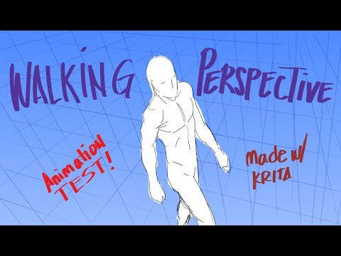 Perspective Walking Animation in Krita