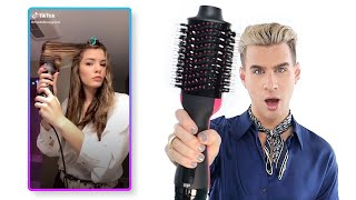 Pro Hairdresser Tries The Revlon One Step Hair Dryer (as seen on tiktok)