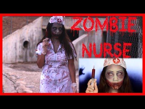 Zombie Nurse Halloween Makeup & Costume Collab W/MeiMeiMakeup