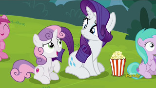 Rarity & Sweetie Belle at the puppet show - Forever Filly