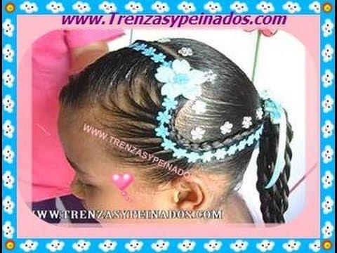 Peinado para ni a curso 4 el corazon youtube - Peinados bonitos para ninas ...