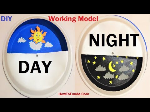 Day And Night Working Model For School Science Fair Project