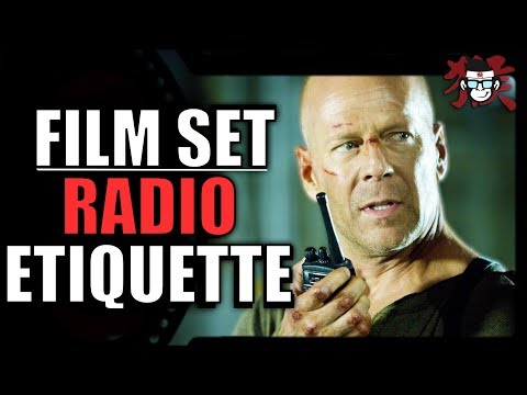 Film SET Radio etiquette - Essential guide to anyone working in the film and TV industry