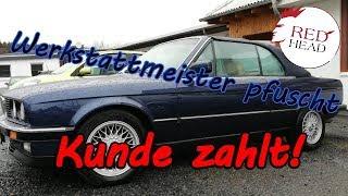 BMW E30 325i Erneuerung des Zylinderkopfes. Kopfarbeit mit Köpfchen bei Redhead Zylinderkopftechnik