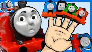 Daddy Finger Family Music Thomas and Friends Great Race Trains Toys