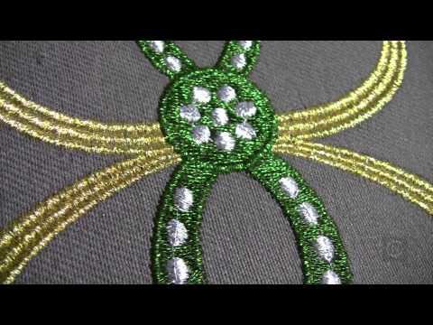 Christopher Nejman  Metallic Thread Embroidery  Baby Lock Ellisimo
