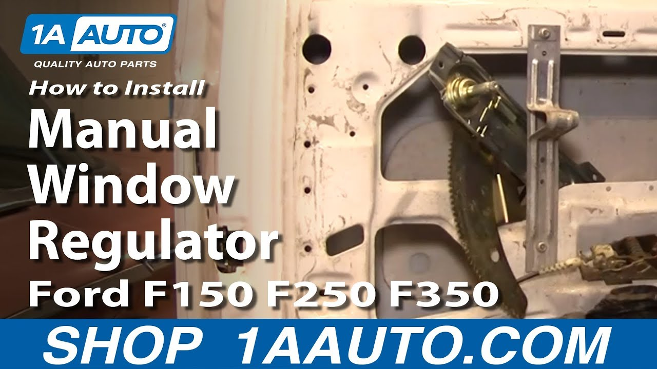 How To Install Replace Manual Window Regulator Ford F150 F250 F350 1973 F 250 4x4 Wiring Diagram 80 96 1aautocom Youtube