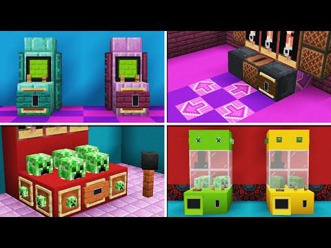 10 Arcade Machine Designs you can do in Minecraft & Bedrock!