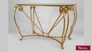 Antique French 1940s Gilt Iron Rectangular Center Table
