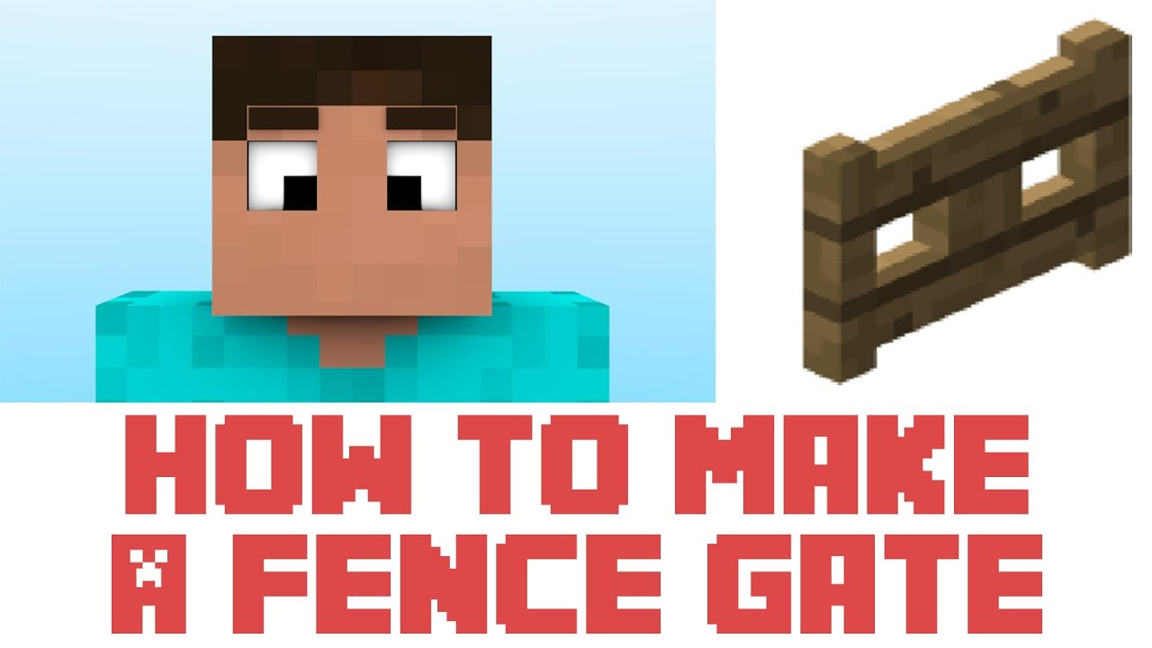 minecraft tutorial how to make a fence gate in minecraft. Black Bedroom Furniture Sets. Home Design Ideas