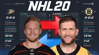 Nhl 20 - Ondrej Kase To Boston Trade Simulation