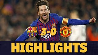 BARÇA 3-0 MANCHESTER UNITED | Match highlights