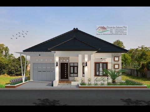 Modern House 12x11 6 3 K Tidur Desain Rumah Minimalis Lantai 1