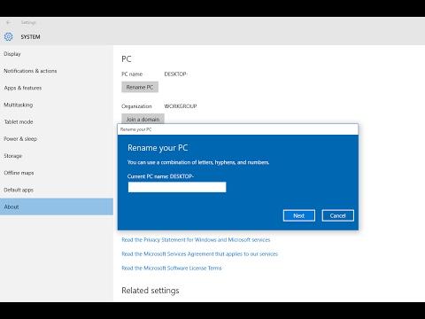 Các Cách Đổi Tên Máy Tính Của Bạn Trong Windows 10
