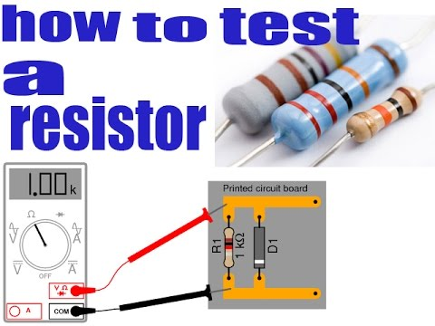 how to test a resistor with multimeter youtube. Black Bedroom Furniture Sets. Home Design Ideas