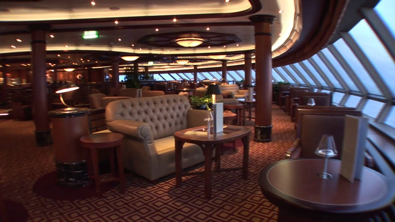 Cunard queen elizabeth youtube for Queen elizabeth 2 ship interior