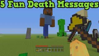 Minecraft Xbox 360 + PS3 - 5 Unique Ways To Die Death Messages