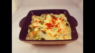 Simple Recipe for Potatoes and Broccoli Béchamel  Bake