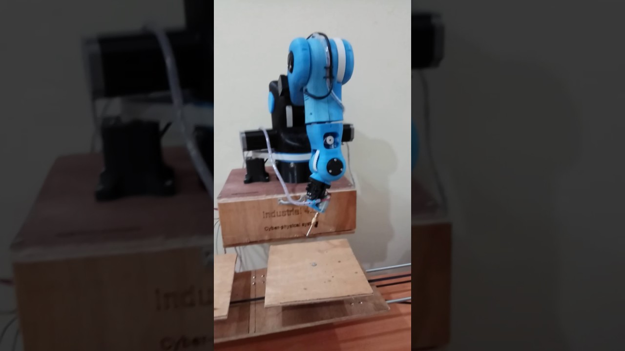 moveo robotic arm with motor control and extended axis demo