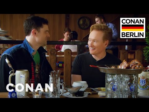 Conan&39;s Lunchtime German Lesson With Flula Borg  - CONAN on TBS