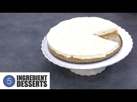 No Bake Lemon Cheesecake | 5 Ingredient Desserts