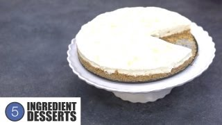 No Bake Lemon Cheesecake | 5 Ingredient Desserts