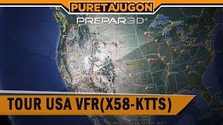 PREPAR3D TOUR USA VFR (X58-KTSS)